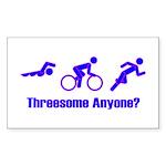 """Threesome Anyone?"" Rectangle Sticker"