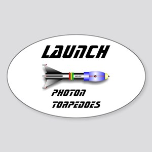 Photon Torpedoes Sticker (Oval)