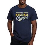 2010 Nat10nal Champs Men's Fitted T-Shirt (dark)