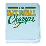 2010 Nat10nal Champs baby blanket