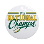 2010 Nat10nal Champs Ornament (Round)