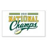 2010 Nat10nal Champs Sticker (Rectangle)