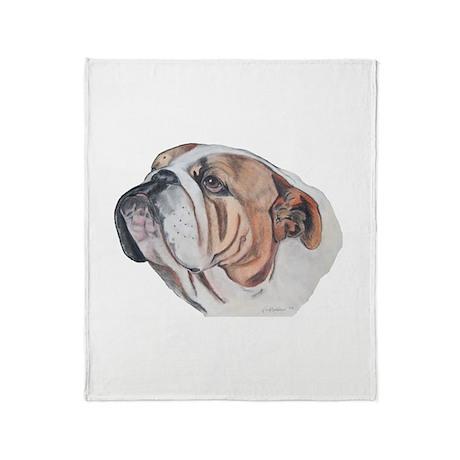 Bulldog Portrait Throw Blanket