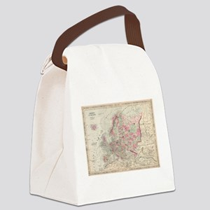 Vintage Map of Europe (1864) Canvas Lunch Bag