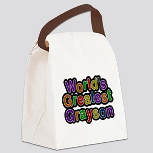Worlds Greatest Grayson Canvas Lunch Bag