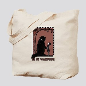 be my valentine cat emo Tote Bag