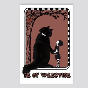 be my valentine cat emo Postcards (Package of 8)