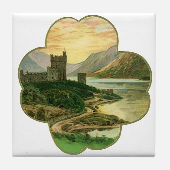 Vintage Saint Patrick's Day Tile Coaster