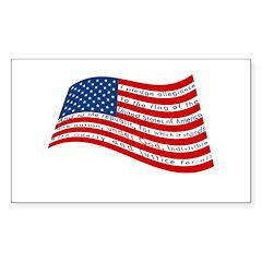 Pledge of Allegiance Sticker (Rectangle 10 pk)
