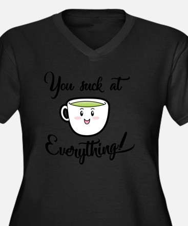 Cute Funny demotivational Women's Plus Size V-Neck Dark T-Shirt