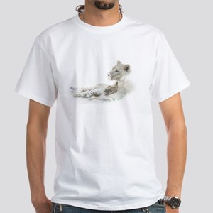 Lioness and Cub White T-Shirt