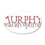 Murphy: Optimist 38.5 x 24.5 Oval Wall Peel