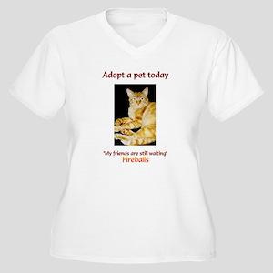 Adopt A Pet - Women's Plus Size V-Neck T-Shirt