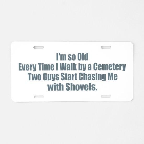 Cemetery Shovels Aluminum License Plate
