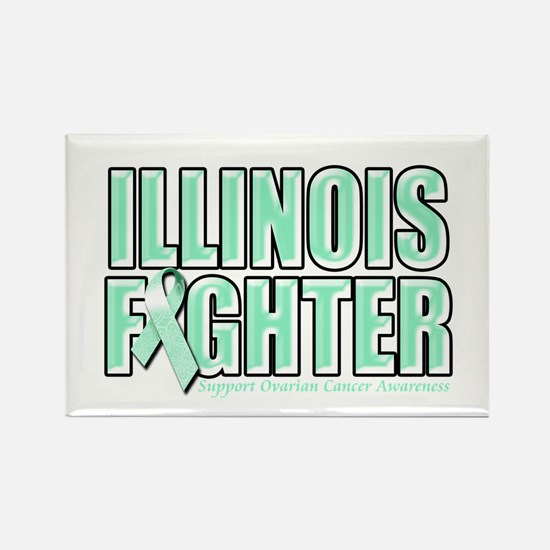 Illinois Ovarian Cancer Fighter Rectangle Magnet