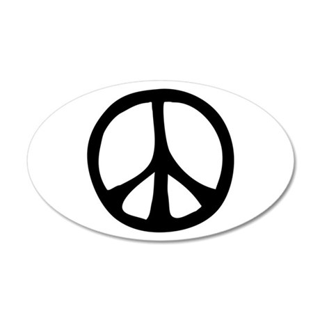 Flowing Peace Sign 38.5 x 24.5 Oval Wall Peel