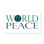 World Peace 20x12 Wall Decal