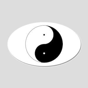Daoism Yin & Yang 22x14 Oval Wall Peel