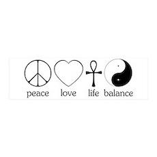 Peace Love Life Balance 42x14 Wall Peel