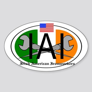 Irish American Ironworker Sticker (Oval)