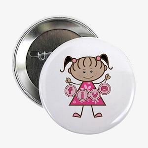 "Little Girl 5th Birthday 2.25"" Button"