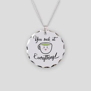 A little tea time wisdom Necklace Circle Charm