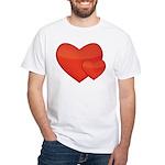 Hearts White T-Shirt