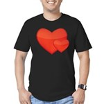 Hearts Men's Fitted T-Shirt (dark)