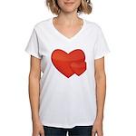 Hearts Women's V-Neck T-Shirt