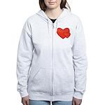 Hearts Women's Zip Hoodie