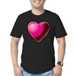 Heart Men's Fitted T-Shirt (dark)