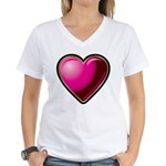Heart Women's V-Neck T-Shirt