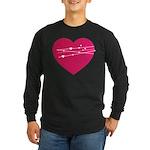Heart Long Sleeve Dark T-Shirt