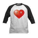 Heart Smiley Kids Baseball Jersey