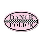 Dance Police Euro 38.5 x 24.5 Oval Wall Peel