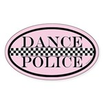 Dance Police Euro Sticker (Oval 50 pk)