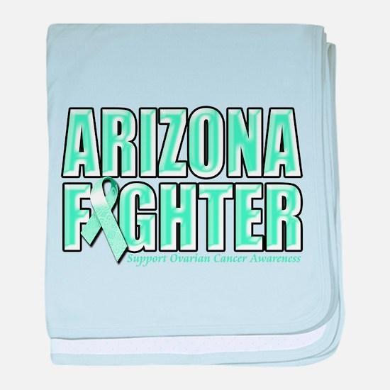 Arizona Ovarian Cancer Fighter baby blanket