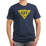 Say Cheese! Men's Fitted T-Shirt (dark)