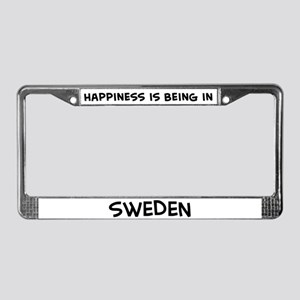 Happiness is Sweden License Plate Frame