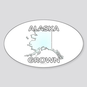 Alaska grown Sticker (Oval)