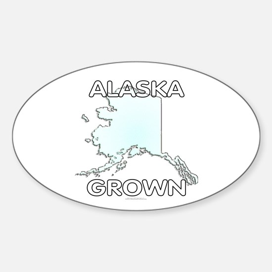 Alaska grown Sticker (Oval)