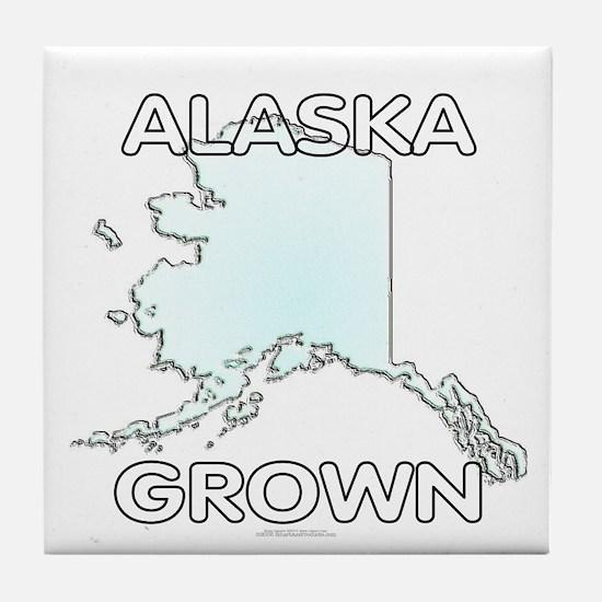 Alaska grown Tile Coaster