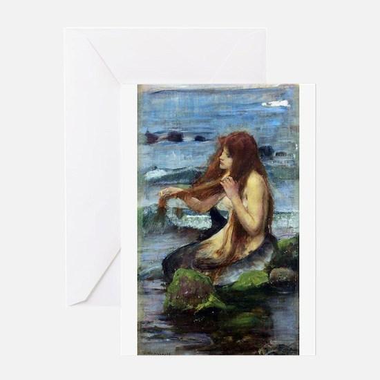 A Mermaid (study) Greeting Card