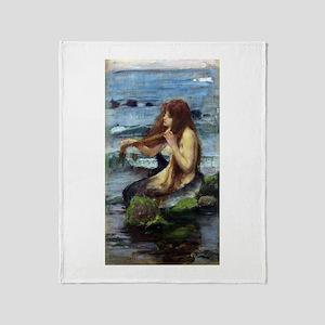 A Mermaid (study) Throw Blanket