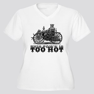 Too Hot - Fire Truck Women's Plus Size V-Neck T-Sh