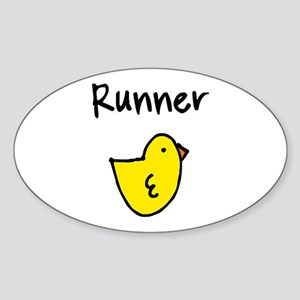 Runner Chick Sticker (Oval)