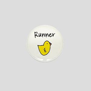 Runner Chick Mini Button