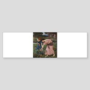 Gather Ye Rosebuds While Ye M Sticker (Bumper)