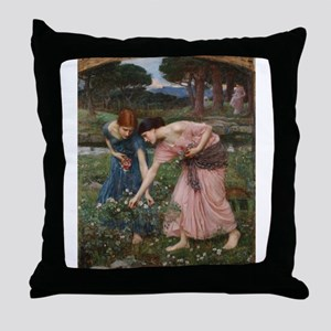 Gather Ye Rosebuds While Ye M Throw Pillow