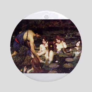 Hylas and the Nymphs Ornament (Round)